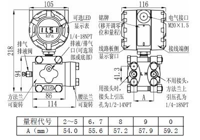 电容式压力变送器差压变送器/天津电容式压力变送器