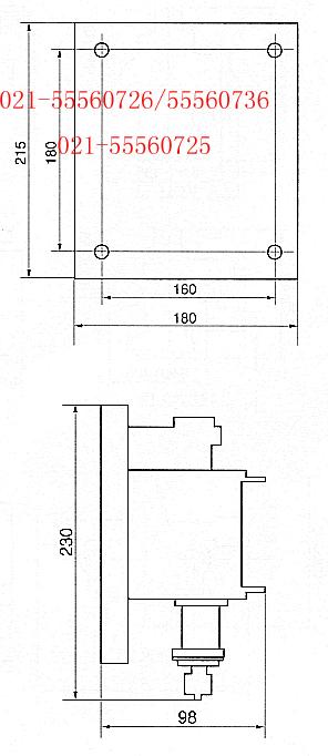 接线图及安装尺寸: 上海约瑟电器科技有限公司