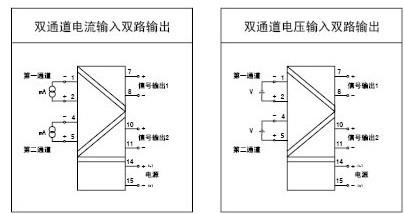 接 线 图: 隔离器单输入仪表接线图 宽&tim