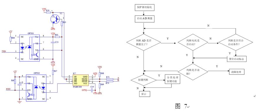 """图10为电动机采用Y—?转换启动接线方式的ARD2智能电动机保护器典型应用图。在图5中,时间继电器KT的触头状态为吸引线圈失电时的状态,即""""常态""""。当启动按钮SB2或远程启动继电器7、8闭合,则接触器KM1线圈通电,使KM1的主触头和自锁触头KM1闭合,同时,时间继电器KT吸引线圈通电,由于延时作用,它的触头不立即动作,于是接触器KM3线圈通电,接于主回路中的KM3的主触头闭合,电动机进行星型连接降压启动状态,同时KM3的互锁触头断开,使接触器KM2的吸引线圈不能通电,"""