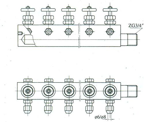 kfq系列气源分配器是现场分散安装气动仪表与仪表空气总管连接的