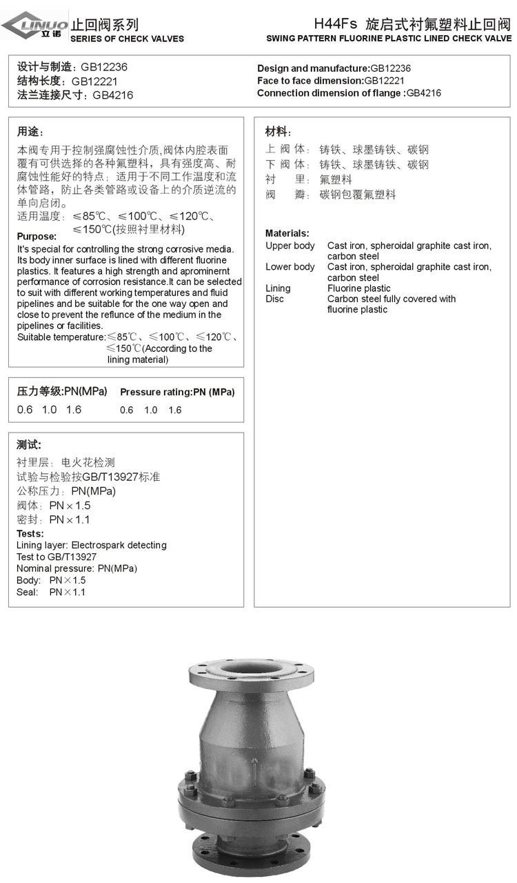 上海立诺防腐阀门制造图片