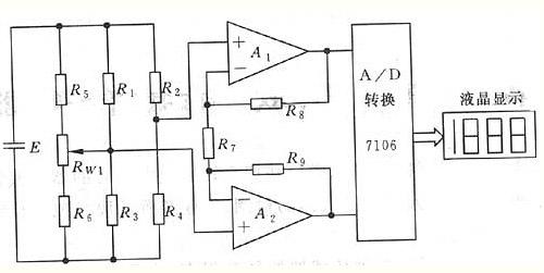 由称重传感器,放大电路,a/d转换和液晶显示四部分组成.