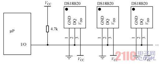 ds18b20温度传感器工作原理及其应用电路图