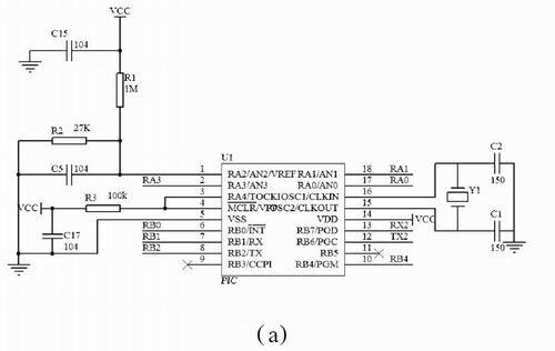 1)上行通信接口电路:集中器通过上行通信接口