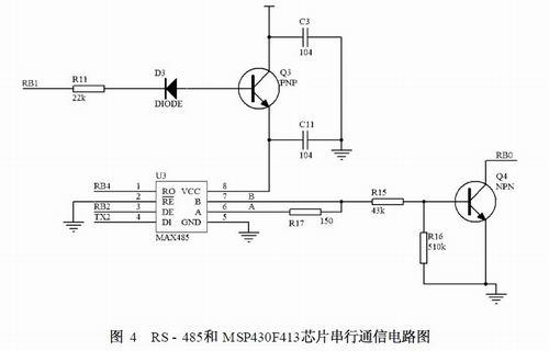 为rs-232,因此集中器电路设中需预留一个rs-232接口,采用max232芯片.