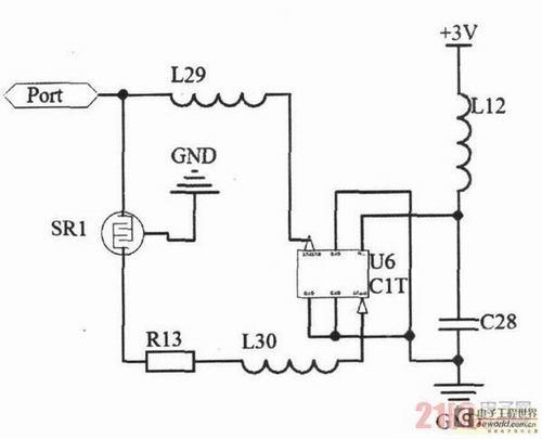 图2正反馈放大振荡电路原理图.