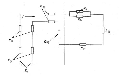 仪表由直流电压通过测量电路的放大,比较后,形成具有一定比例的电流量