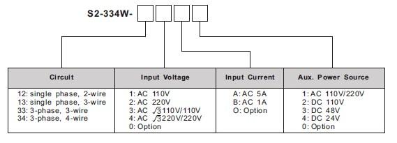 s2-334ws2-334w数字有功功率表