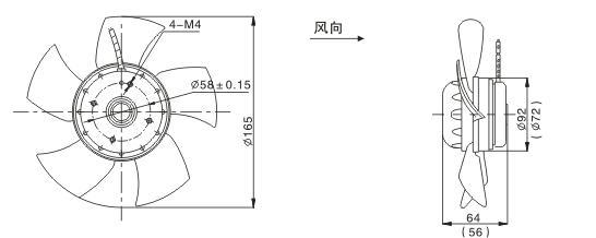 电扇结构图