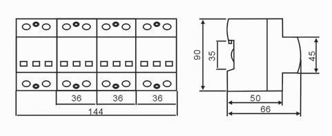 200ka系列低压配电系统用大通流电源电涌保护器