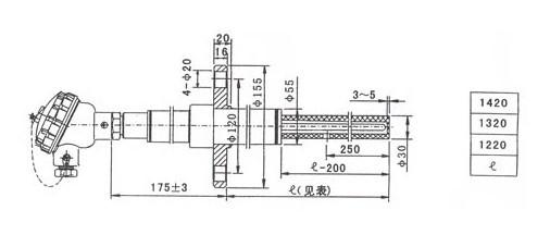 高温贵金属热电偶型号及规格