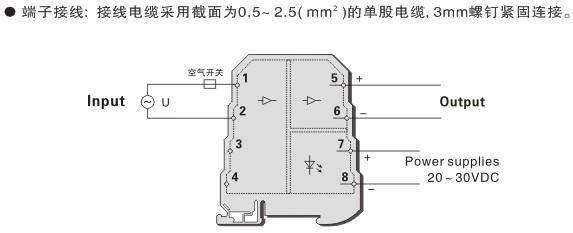 mz6035 交流电压电量变送器(一入一出)